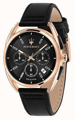 Maserati Herren Trimarano 41mm | Roségold-Gehäuse | schwarzes Zifferblatt | R8871632002