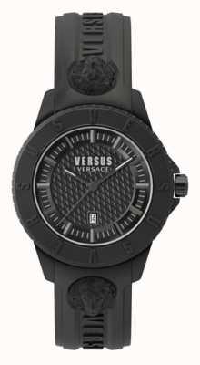 Versus Versace Tokio r schwarzes Zifferblatt | schwarzes Silikonband VSP0Y2318