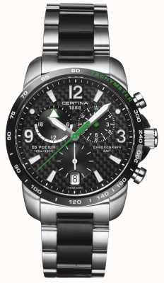 Certina | ds podium | gmt chronograph | Stahl schwarz Carbon | C0016392220702