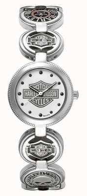Harley Davidson Armbanduhr armbanduhr | Silber Edelstahl 76L145