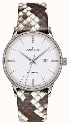 Junghans Meister Damen Automatik | Diamanten | Python & Eidechsenbänder 027/4847.00