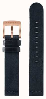 Kronaby Lediglich 18 mm dunkelblaues Lederband A1000-0576