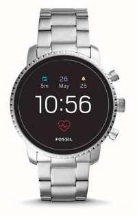 Fossil Verbundener q explorist hr smart watch edelstahl FTW4011