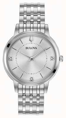 Bulova Damenarmband mit Diamanten aus Edelstahl 96P183