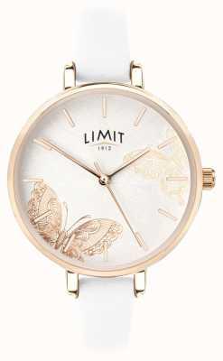 Limit | Damen-Gartenuhr | weißes Schmetterlingszifferblatt | 60013