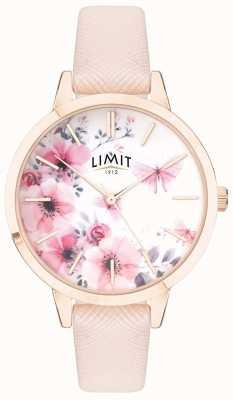Limit | der geheime garten der frauen | rosa & weißes florales Zifferblatt | rosa strp 60023