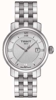 Tissot Damen-Bridgeport-Edelstahlsilber-Zifferblatt T0970101103800