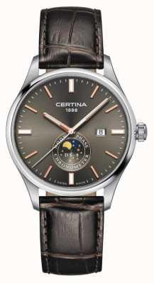 Certina Herren | ds 8 chrono moon phase braunes lederarmband graues zifferblatt C0334571608100