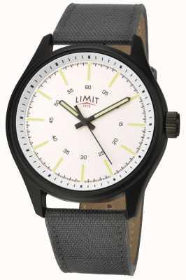 Limit | herren | schwarzes Nylonband | weißes Zifferblatt | 5949.01