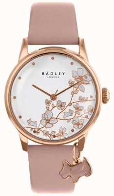 Radley Frauen | nachlaufende Blume | rosa Lederband RY2692