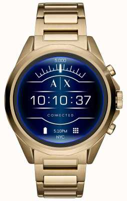 Armani Exchange Verbundene Smartwatch-Touchscreen-Gold-DVD AXT2001