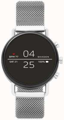 Skagen Angeschlossene Falster 2 Smartwatch aus Edelstahlgewebe SKT5102