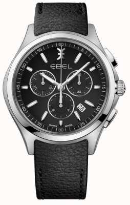 EBEL | Herrenuhr für Chronographen | schwarzes Lederarmband | 1216343