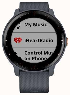 Garmin Vivoactive 3 Musik hr gps Granit blau Rosegold Smartwatch 010-01985-32