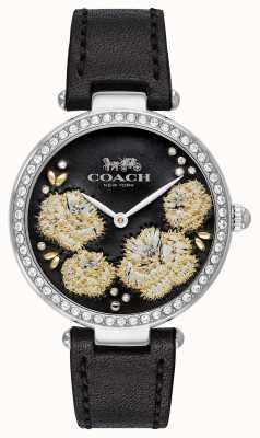 Coach | Parkuhr für Damen | schwarzes Lederarmband schwarzes Zifferblatt 14503283