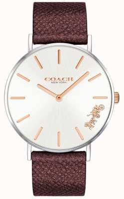 Coach | Damen-Armbanduhr | rotes Lederband | 14503154