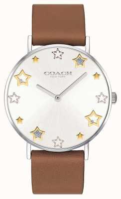 Coach | Damen-Armbanduhr | braunes Lederarmband | 14503242