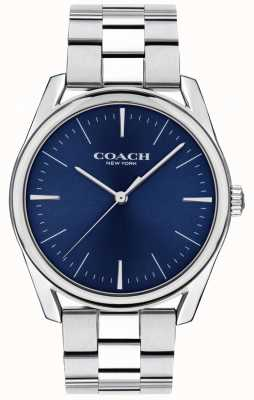 Coach | Herren moderne Luxusuhr | edelstahl blaues zifferblatt | 14602401