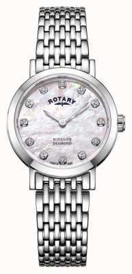 Rotary | Perlmuttuhr für Damen | LB05300/07/D