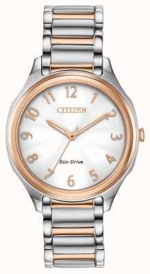 Citizen Zweifarbiges Metallarmband für Damen EM0756-53A