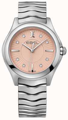 EBEL Wave Edelstahlarmband rosa Zifferblatt 1216303