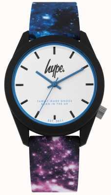 Hype | blau und lila Galaxie drucken Silikon | Ex-Anzeige HYU009BV Ex-Display