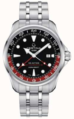 Certina | ds Aktion | gmt powermatic 80 | schwarzes Zifferblatt | C0324291105100
