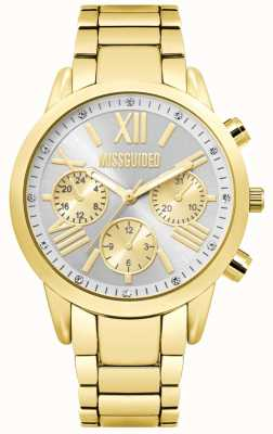 Missguided | Damen Gold Chronograph Uhr | MG008GM