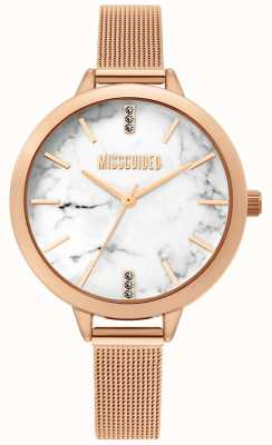 Missguided | damen rose gold mesh uhr | MG011RGM