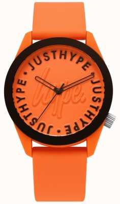 Hype | Herrenuhr | orange Silikonband | oranges Zifferblatt | HYU023O