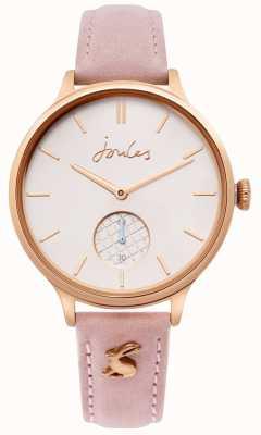 Joules | rosafarbenes Lederarmband für Damen Roségoldgehäuse | JSL014PRG