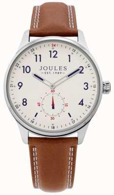 Joules | Herren Egge Uhr | Tan Lederband | JSG008T