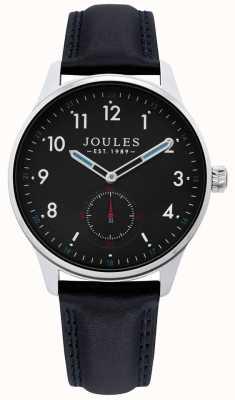 Joules | Herren Egge Uhr | schwarzes Lederarmband | JSG008B