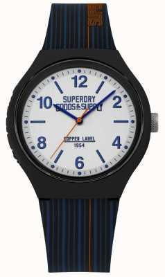 Superdry | Marine Silikonband | silbernes Zifferblatt | SYG252U