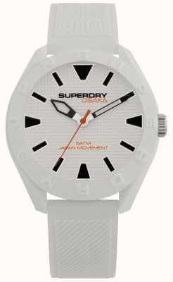 Superdry | osaka | mattweißes Zifferblatt | strukturiertes weißes Armband SYG243W