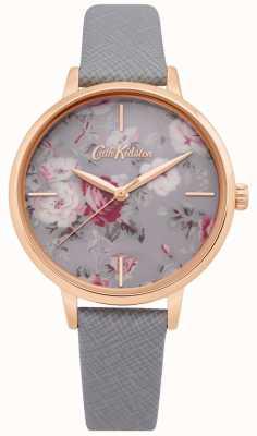 Cath Kidston | Womens Brampton Haufen Uhr | graues Lederband | CKL069ERG