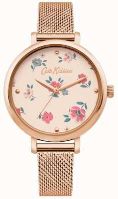 Cath Kidston | Damen Brampton Ditsy Uhr | roségold-mesh-armband | CKL079RGM
