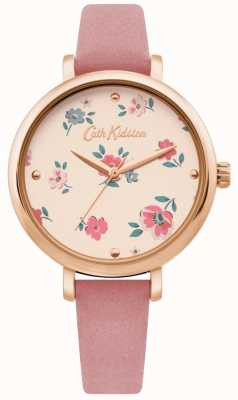 Cath Kidston | Damen Brampton Ditsy Uhr | rosa Lederband | CKL079PRG