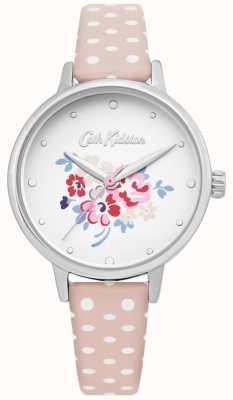 Cath Kidston | glückliche Bündeluhr der Frauen | gepunktetes rosafarbenes Leder | CKL070P