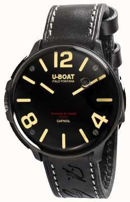 U-Boat Capsoil dlc electromechanics schwarzes Lederband 8108