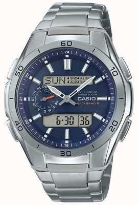 Casio | Herren funkferngesteuert | Chronograph aus Titan | WVA-M650TD-2A2ER