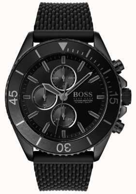 Boss | Herren Ocean Edition | schwarzes Zifferblatt | schwarzes Armband | 1513699