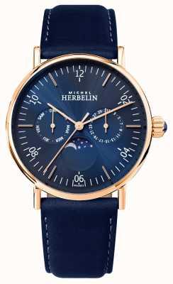 Michel Herbelin Blaues Armband mit montierter Inspiration für Herren von moonphase blue 12747/PR15BL
