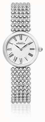Michel Herbelin Damen 27mm Edelstahl Armband Perlen Zifferblatt 17483/B08