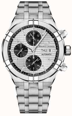Maurice Lacroix Aikon Automatik Chronograph Panda Zifferblatt Edelstahl AI6038-SS002-132-1