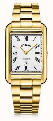 Rotary | herren vergoldetes armband | weißes Zifferblatt | GB05283/01