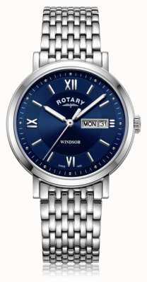 Rotary | Herren Edelstahlarmband | blaues Zifferblatt | GB05300/66