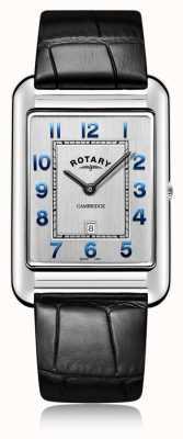 Rotary | Herren schwarzes Lederband Datum | GS05280/70
