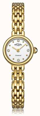 Rotary | Damen vergoldetes Armband | LB05153/02/D
