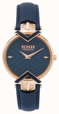 Versus Versace | damen blaues lederarmband mit roségold | VSPLH0419